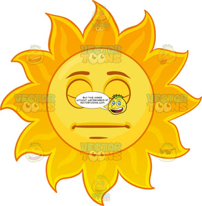 A Sleeping Sun Emoji