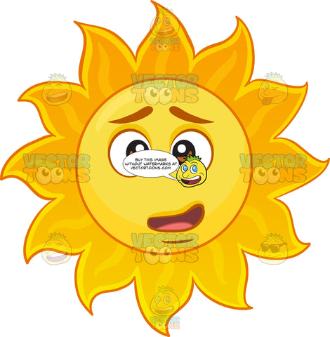 A Shocked And Confused Sun Emoji