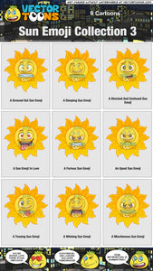 Sun Emoji Collection 3