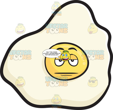 Sunny Side Up Egg Looking Sleepy And Tired Emoji