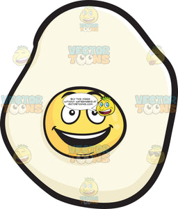 Sunny Side Up Egg With Delighted Look On Face Emoji