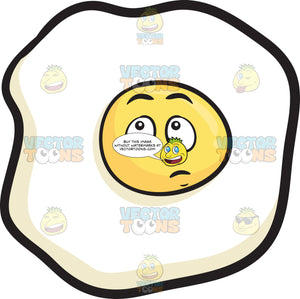 Sunny Side Up With Wondering Look On Face Emoji
