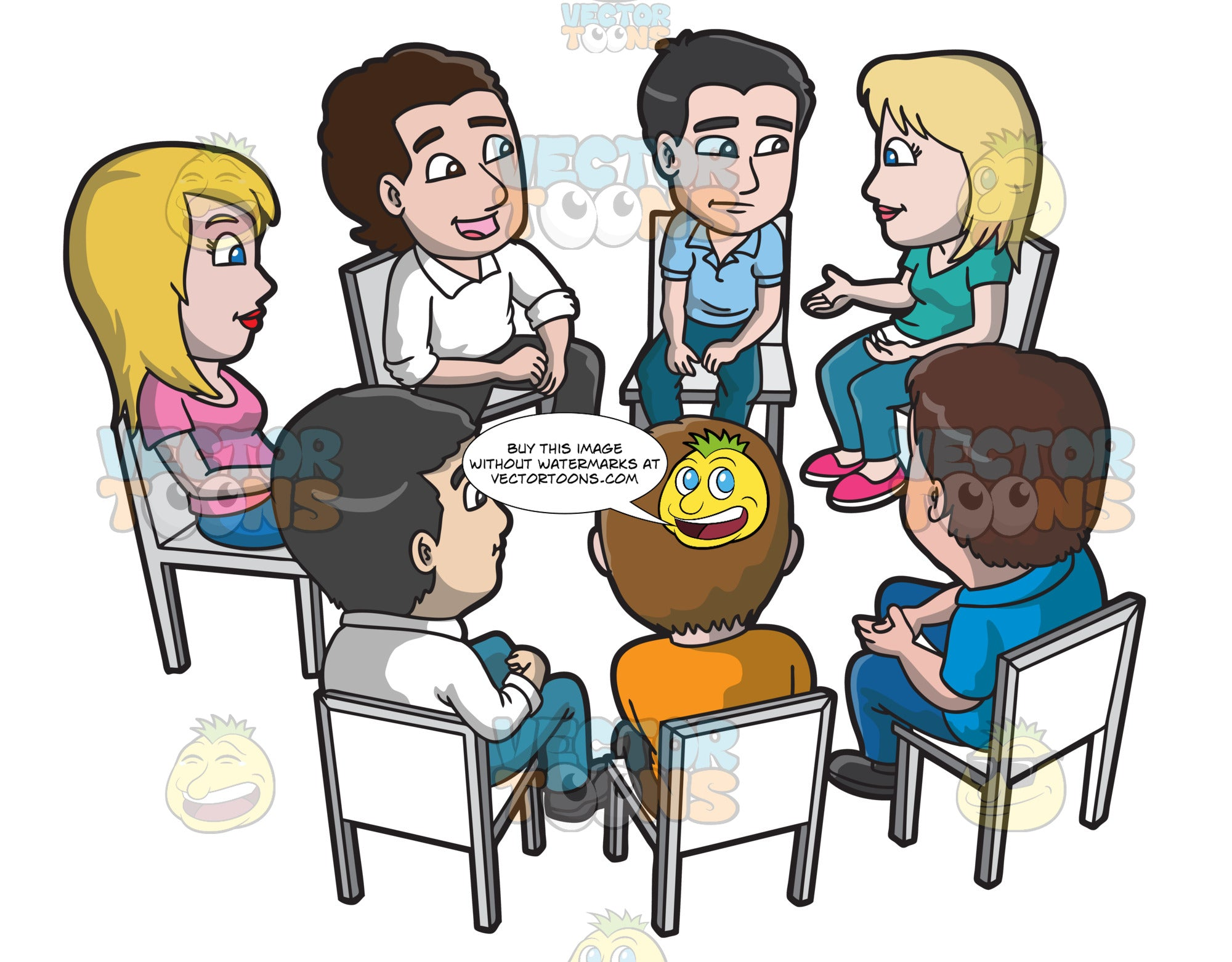 A Support Group Meeting And Discussion