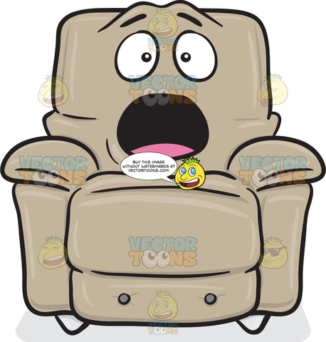 Surprised And Shocked Look On Stuffed Chair Emoji