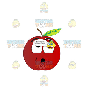 Surprised Red Apple Looking Above Emoji