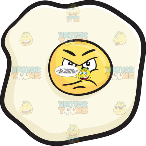Suspecting And Upset Look On Sunny Side Up Egg Emoji