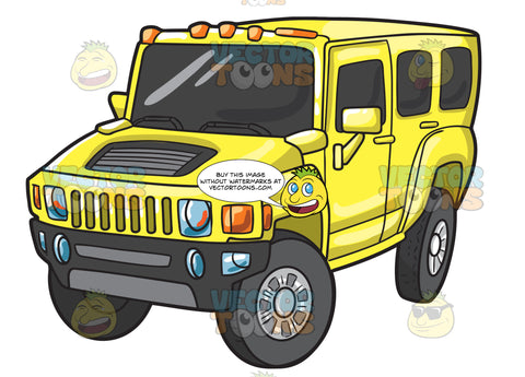 A Yellow Hummer