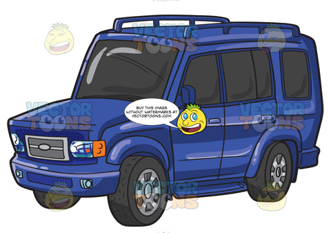 A Blue Expedition Suv