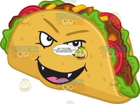 A Mischievous Hard Shell Taco Snack
