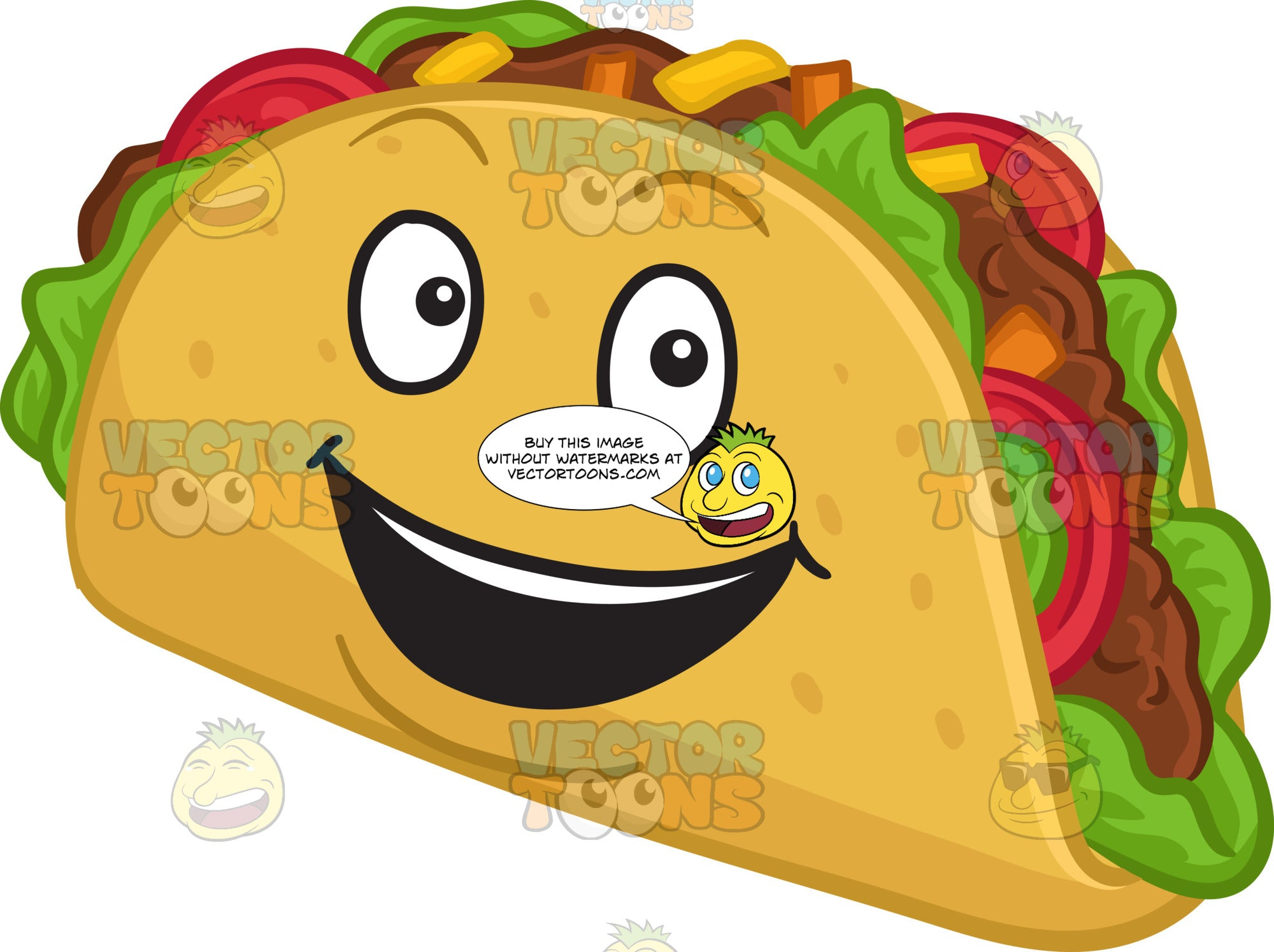 A Very Happy Hard Shell Taco Snack