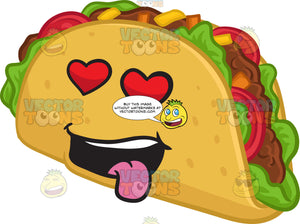 A Hard Shell Taco Snack Looking Hopelessly In Love