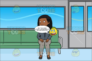 A Black Woman Commutes Via A Passenger Tube