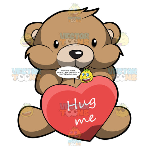 A Very Cute Brown Teddy Bear Asking For A Hug