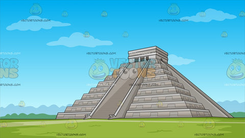 Temple Of Kukulcan Mayan Pyramid Background