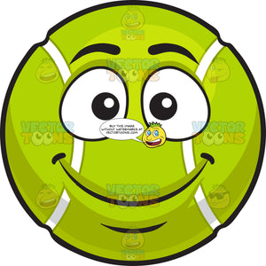 A Smiling Tennis Ball