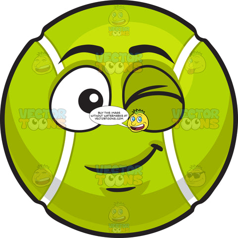 A Winking Tennis Ball