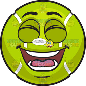 A Laughing Tennis Ball