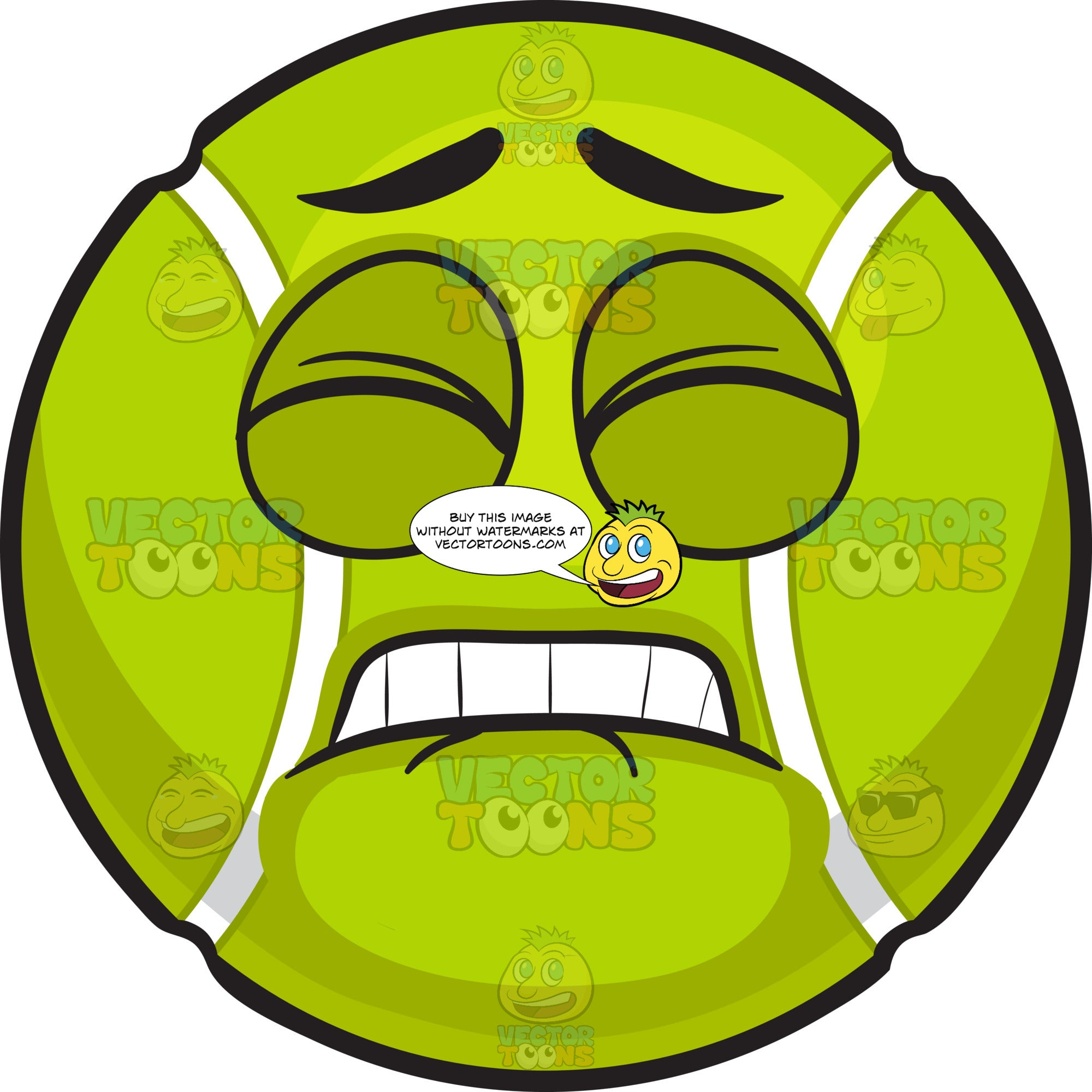 A Pained Tennis Ball Clipart Cartoons By Vectortoons