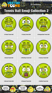 Tennis Ball Emoji Collection 2