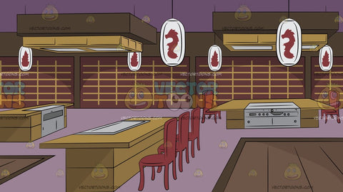 Teppanyaki Restaurant Background