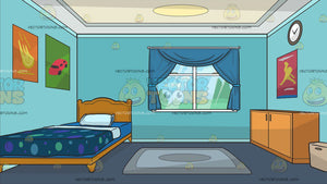 The Bedroom Of A Young Boy Background