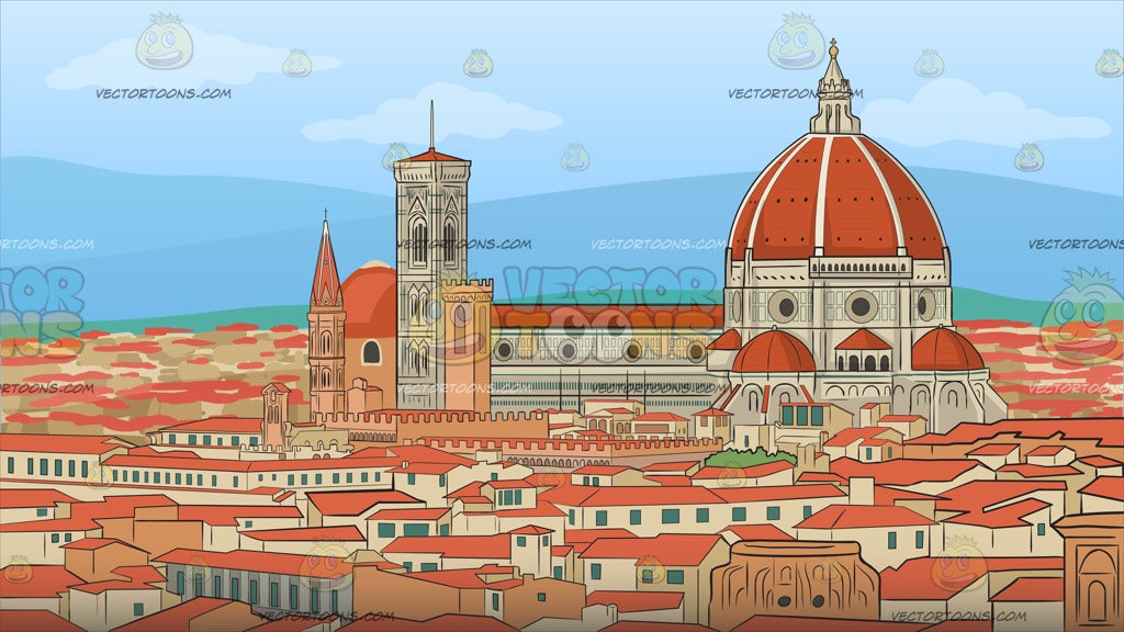 The City Of Florence Background