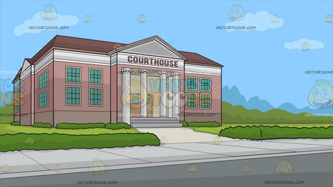 The Exterior Of A Courthouse Background