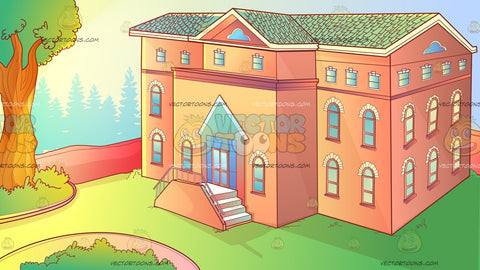 The Exterior Of An Orphanage Background