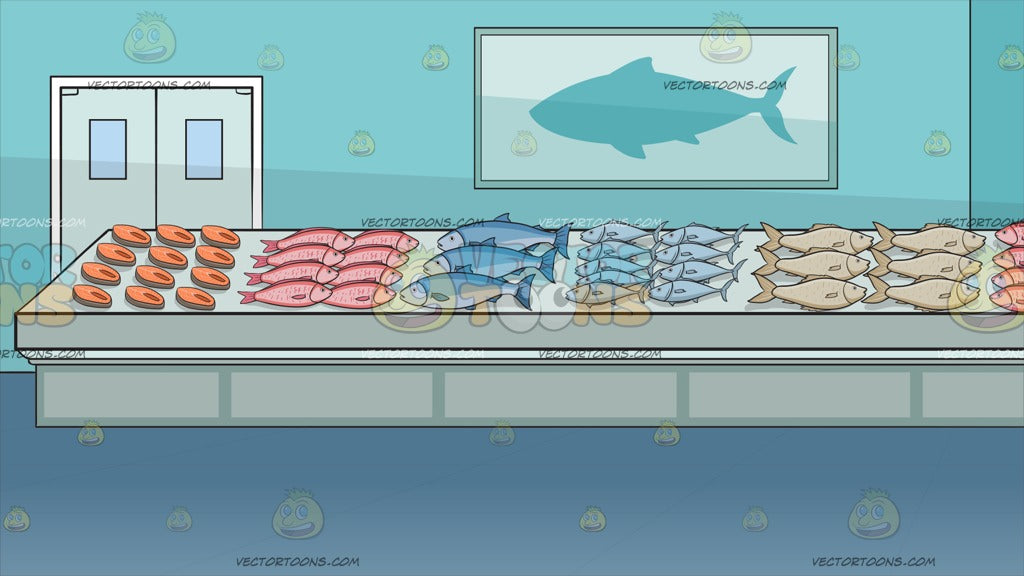 The Fish Section Of A Supermarket Background