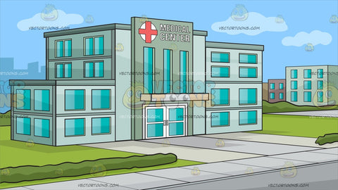 The Outside Of A Medical Center Background