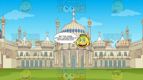 The Royal Pavilion Background. The exterior of the exotic palace known as the Royal Pavilion in Brighton, England