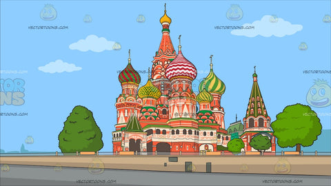 The Saint Basil Cathedral Background