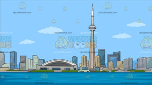The Toronto Skyline Background