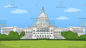 The Us Capitol Building Background