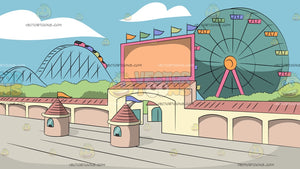 Theme Park Entrance Background