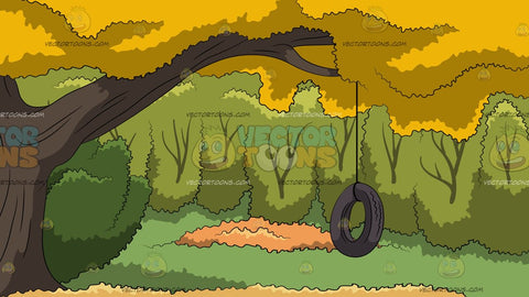 Tire Swing In A Backyard Background