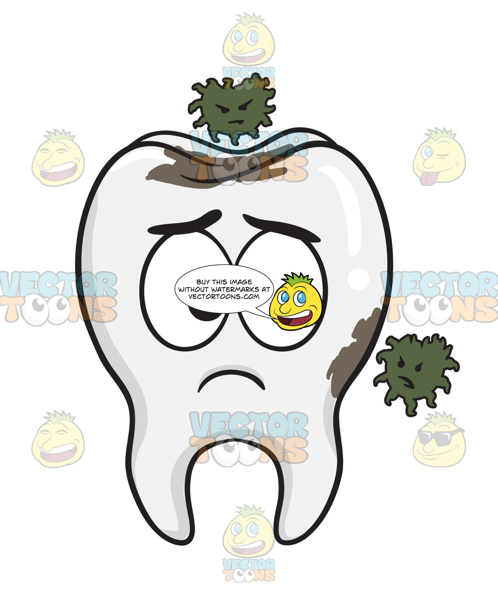 Tooth Being Infested By Germs