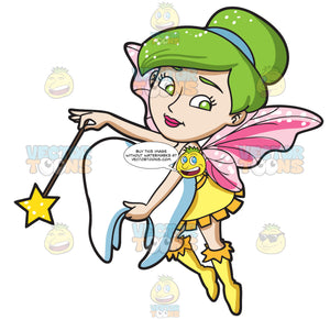 A Fairy Grabbing A Tooth