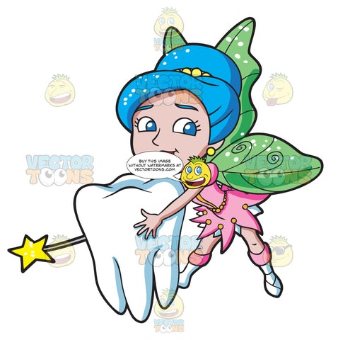 A Lovely Fairy Transporting A Tooth