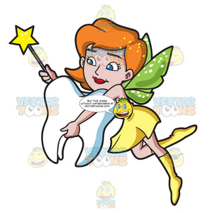 A Fairy Hugging A Tooth