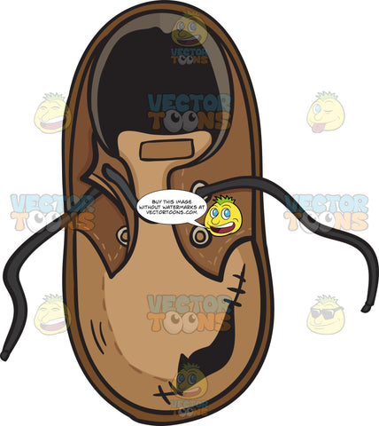 Torn And Destroyed Brown Shoe Emoji