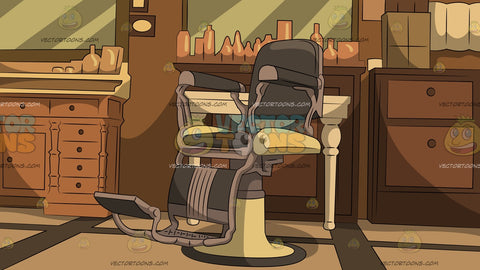 Traditional Barber Shop Chair Background