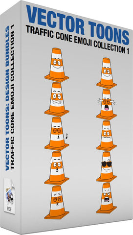 Traffic Cone Emoji Collection 1