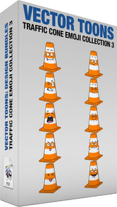 Traffic Cone Emoji Collection 3