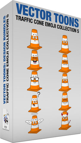 Traffic Cone Emoji Collection 5
