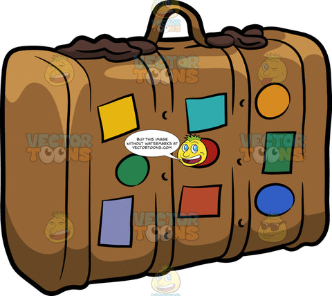 A Suitcase With Stickers