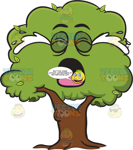Healthy Leafy Tree Crying Out Loud Emoji