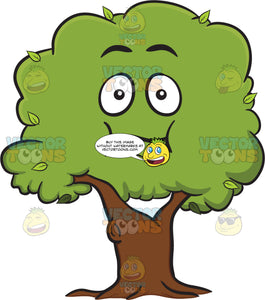 Healthy Leafy Tree With Puffy Cheeks Emoji