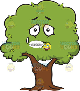Sad Looking Healthy Leafy Tree Emoji
