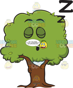 Healthy Leafy Tree Sleeping Soundly Emoji